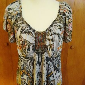 One World Printed Blingy Blouse